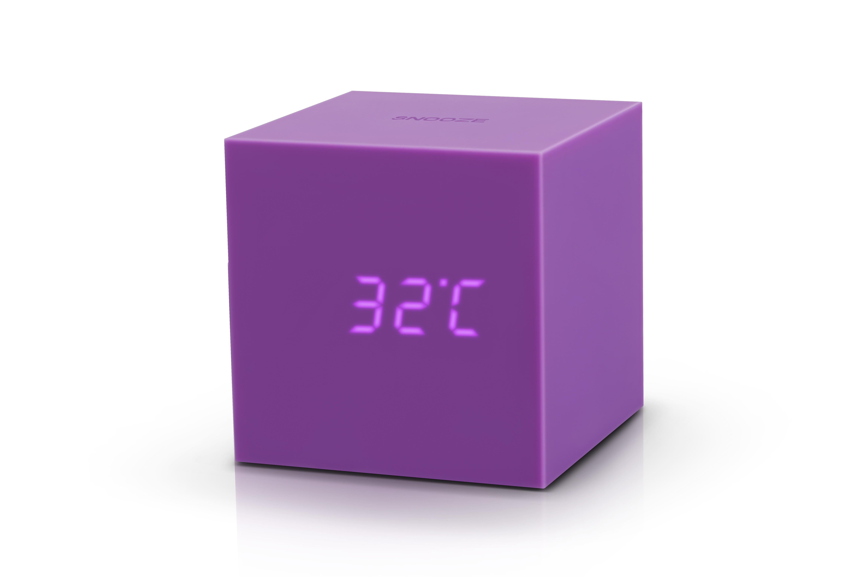 Ceas Inteligent Cu Senzor De Alarma Gravity Cube Click Clock Purple