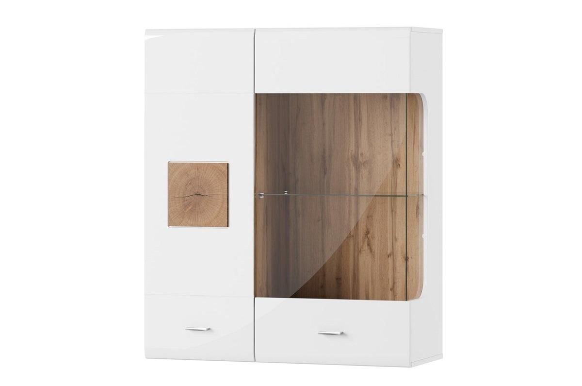 Dulap suspendat cu vitrina Wood 30 l89xA35xH104 cm