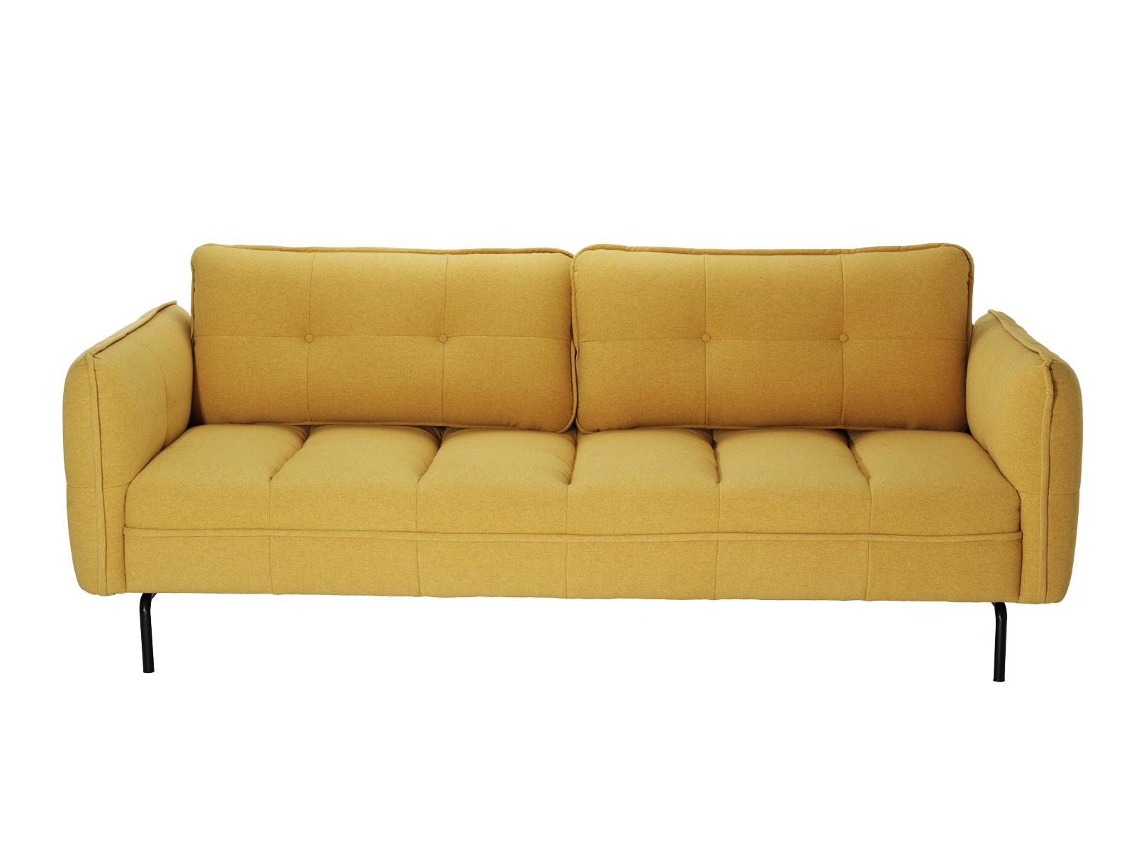 Canapea Fixa Tapitata Cu Stofa Serno Yellow