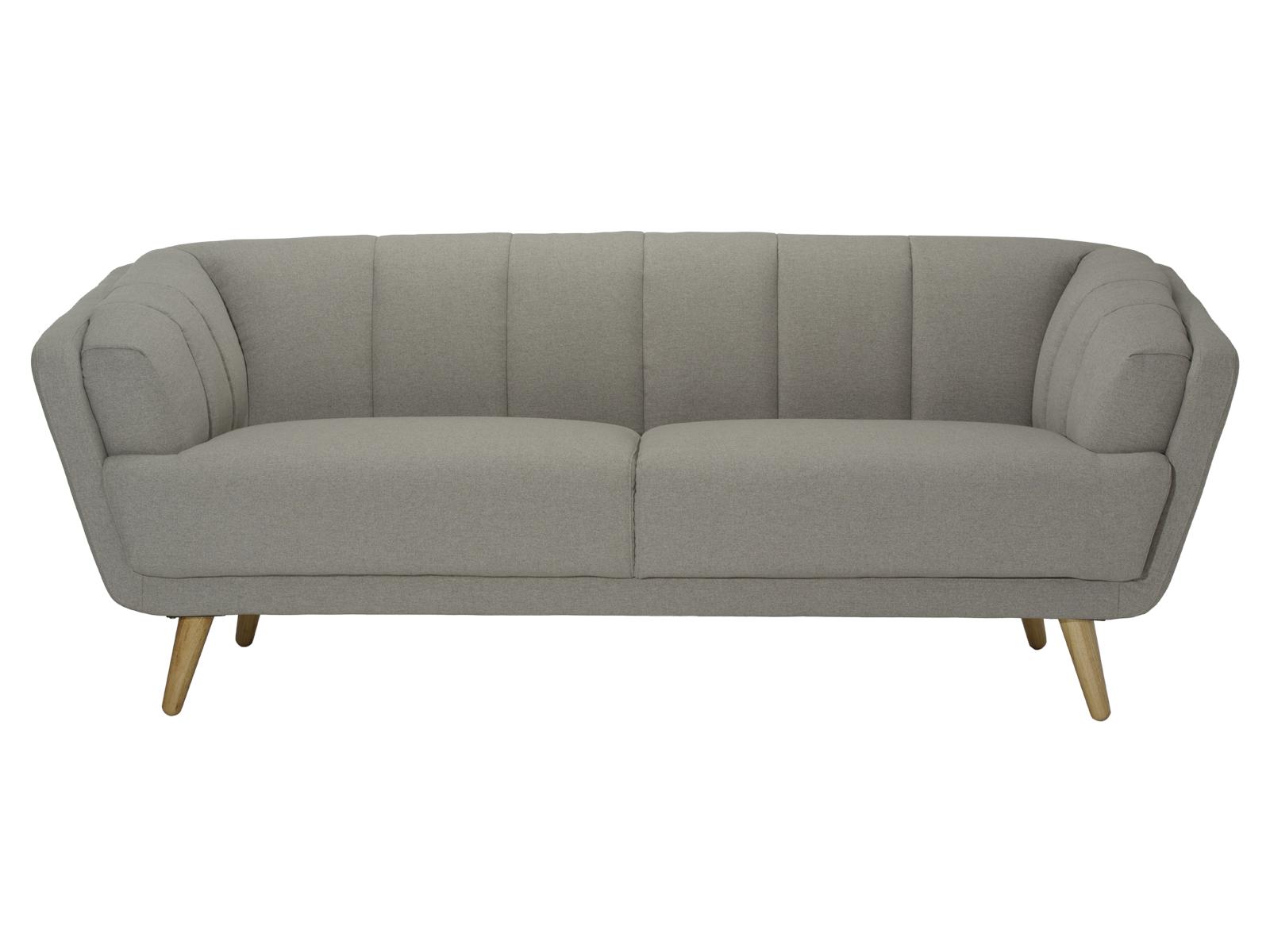 Canapea fixa tapitata cu stofa Loft Grey