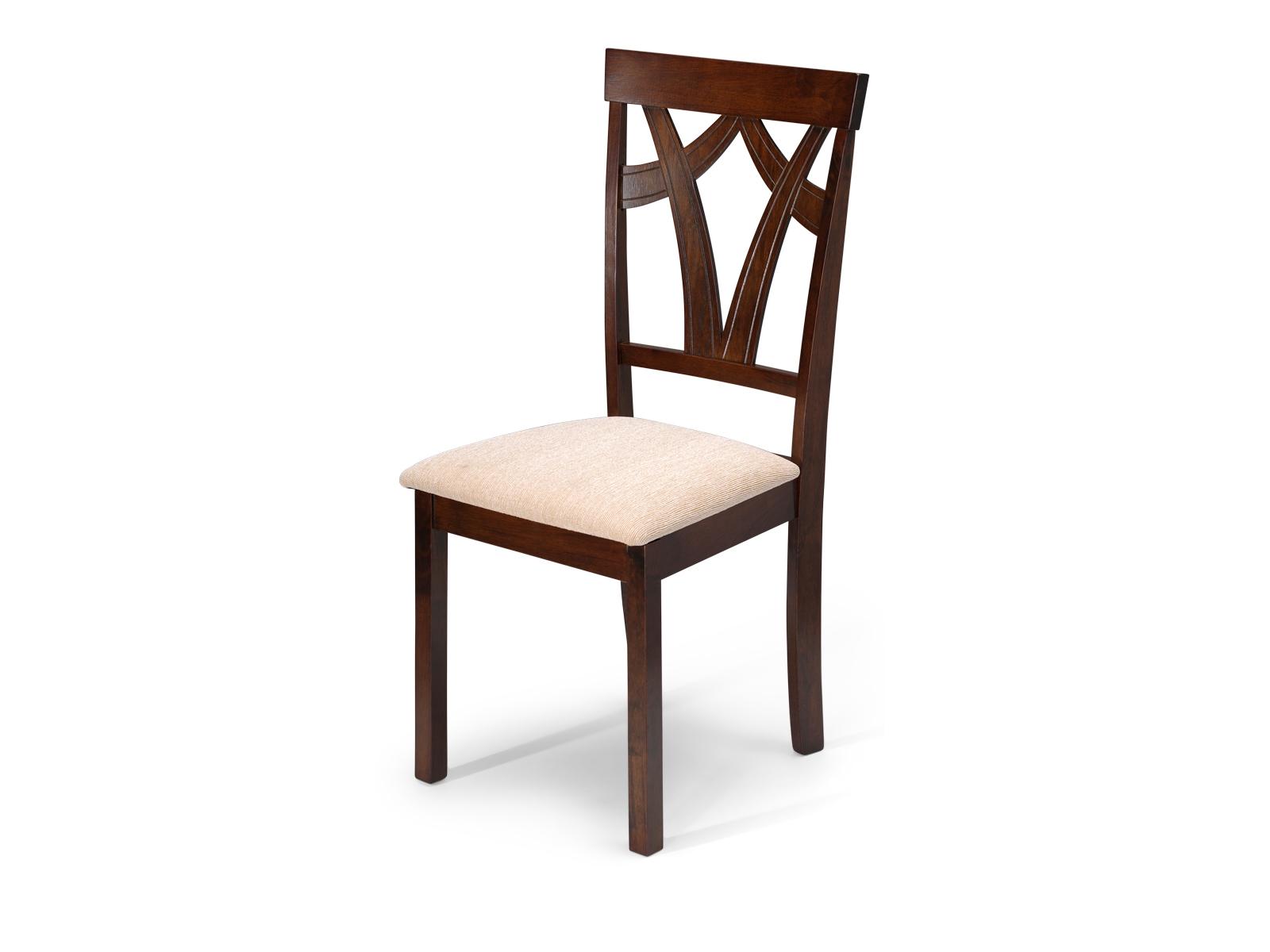 Scaun din lemn cu sezut tapitat cu stofa Arthur Dirty Oak/Beige l43xA385xH945 cm