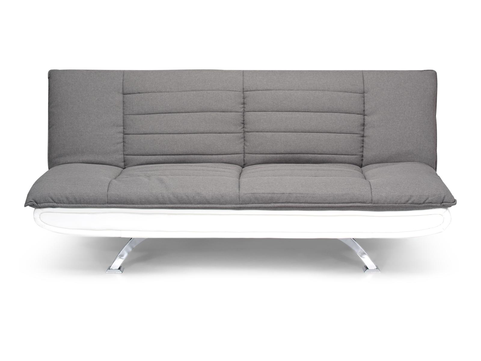 Canapea extensibila tapitata cu stofa 3 locuri Bart Grey/White l193xA102xH86 cm