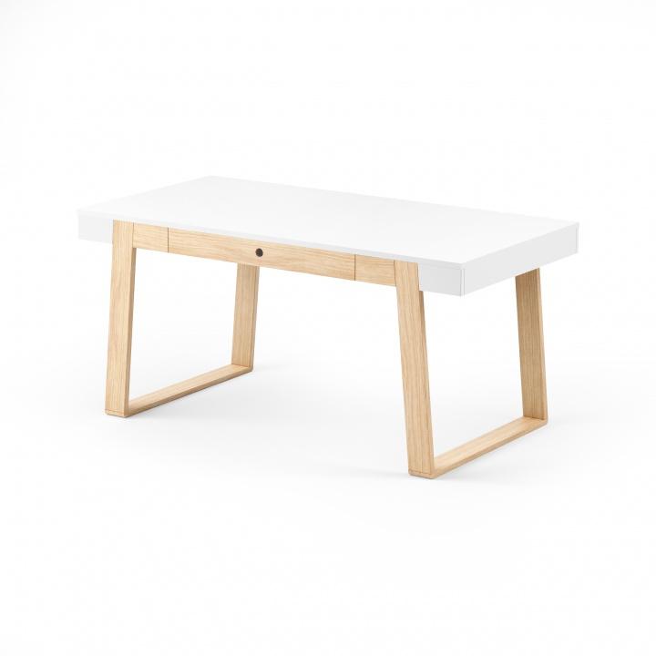 Masa Magh Oak White, L160xl90xh75 cm