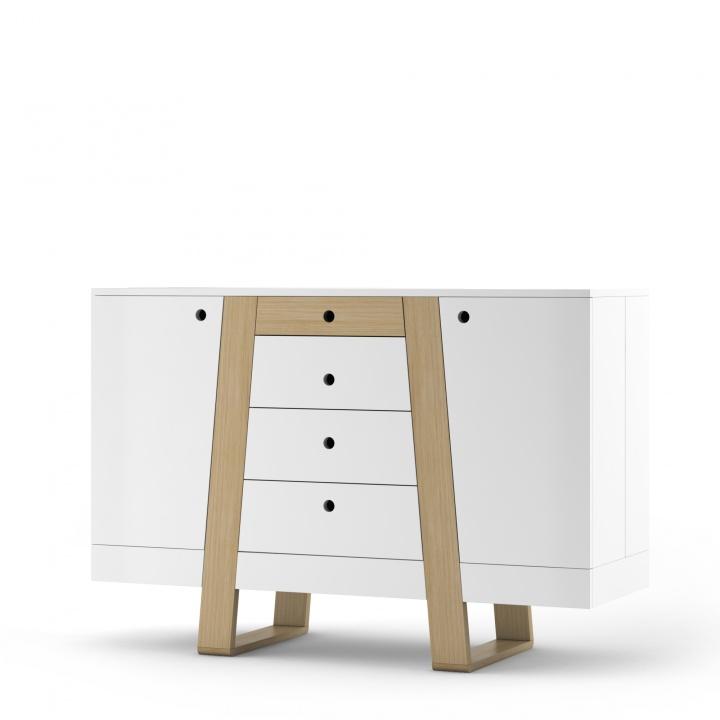 Dulap Magh Mini White, L130xl45xh89 cm