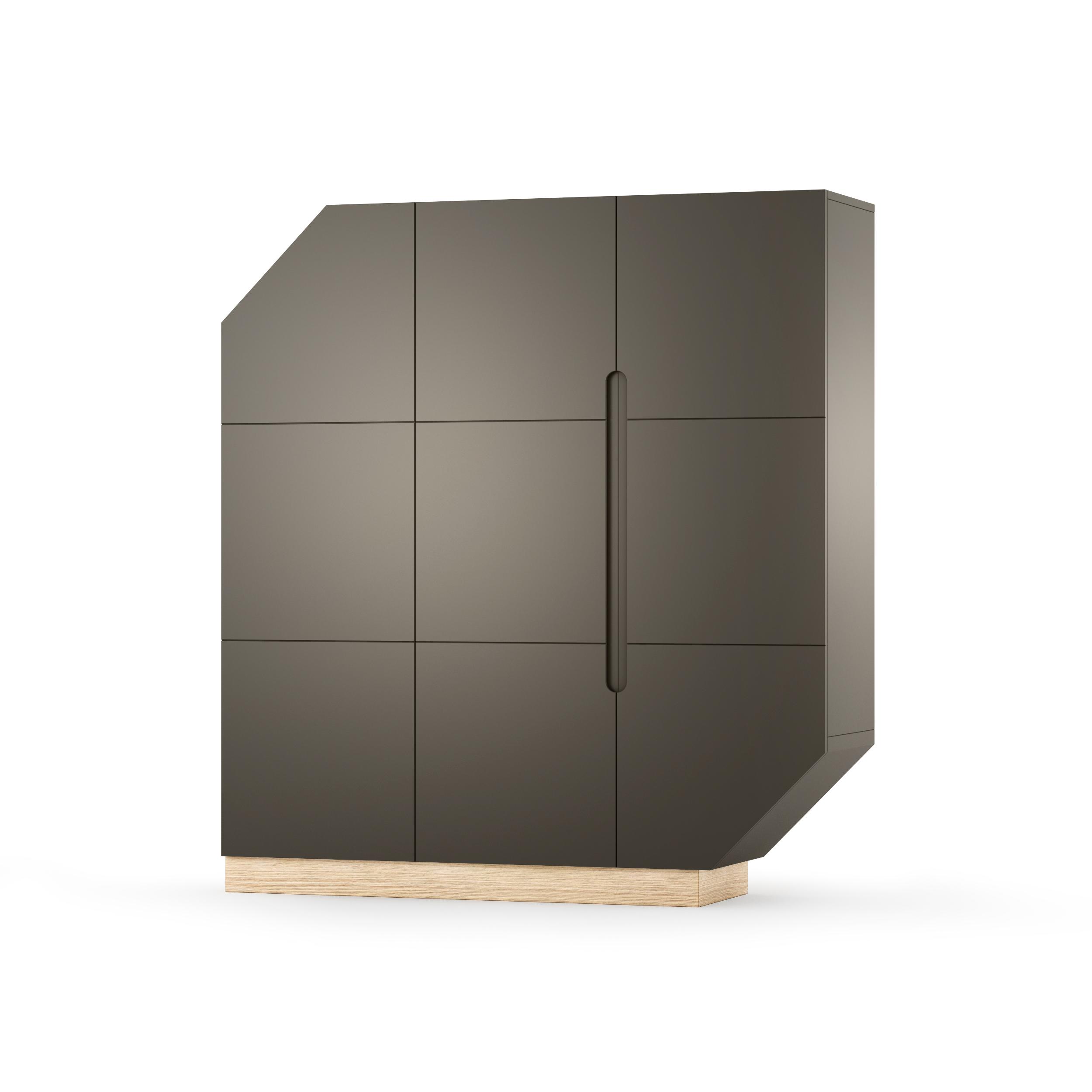 Cabinet Nook Large Oak Graphite/Natural, L137xl39xh152 cm