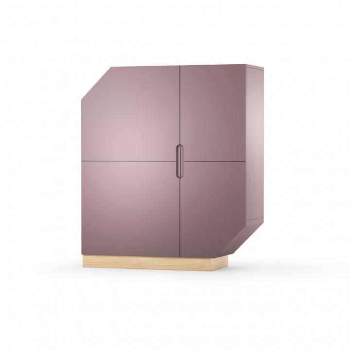 Cabinet din MDF si pal Nook Standard Oak Violet / Natural l107xA39xH126 cm
