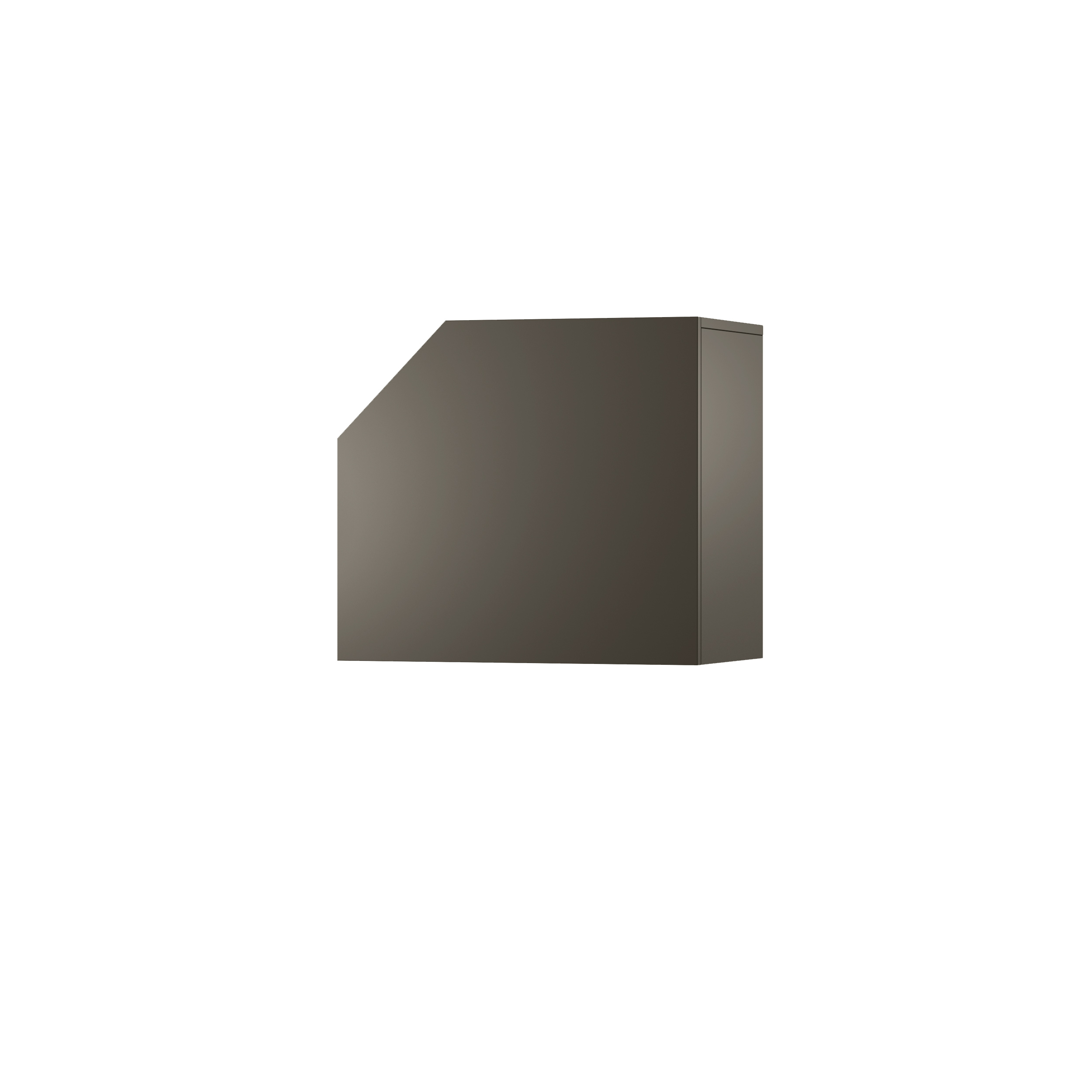 Dulap modular Nook Left Graphite l65xA37xH58 cm