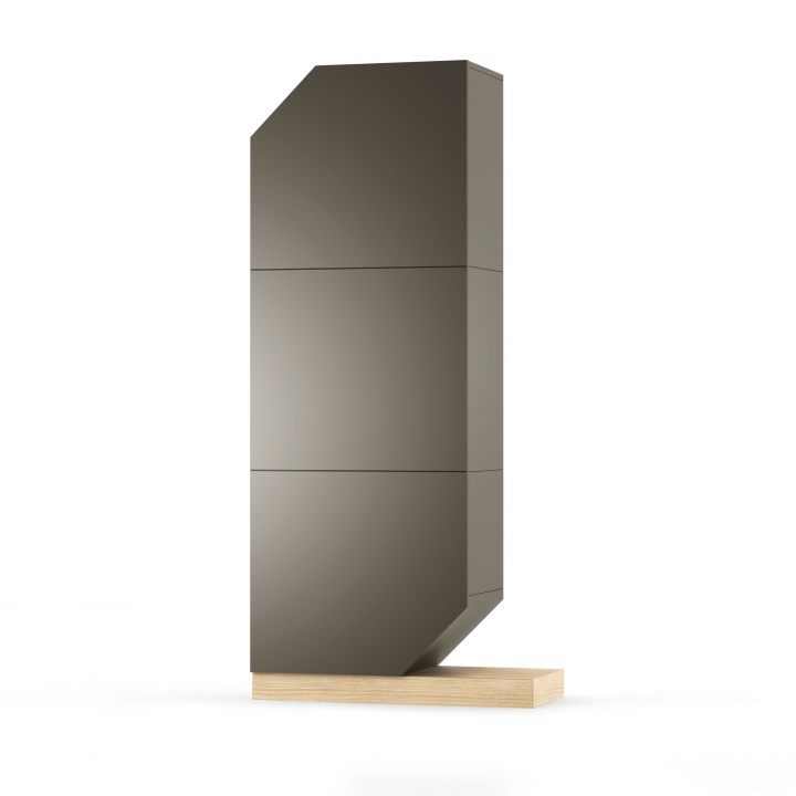 Cabinet Nook Oak Graphite/Natural, L65xl39xh183 cm