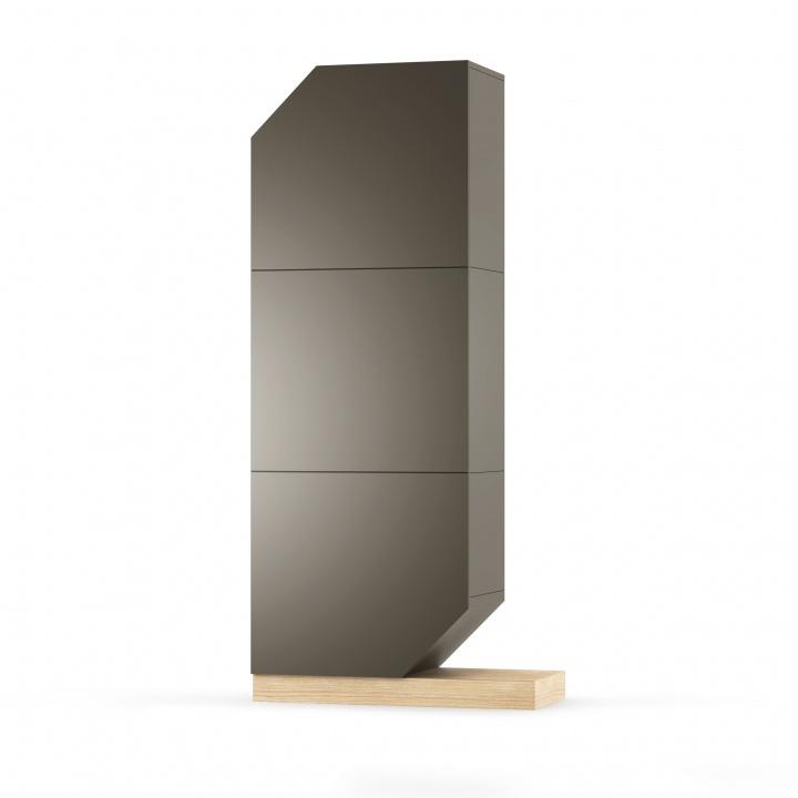 Cabinet din MDF si pal Nook Oak Graphite / Natural l84xA37xH183 cm
