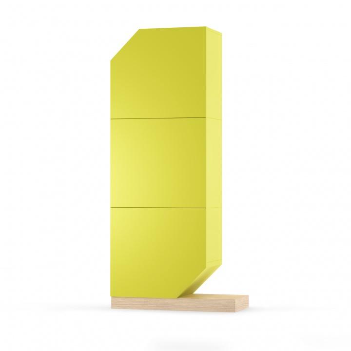 Cabinet Nook Oak Lime/Natural, L84xl37xh183 cm