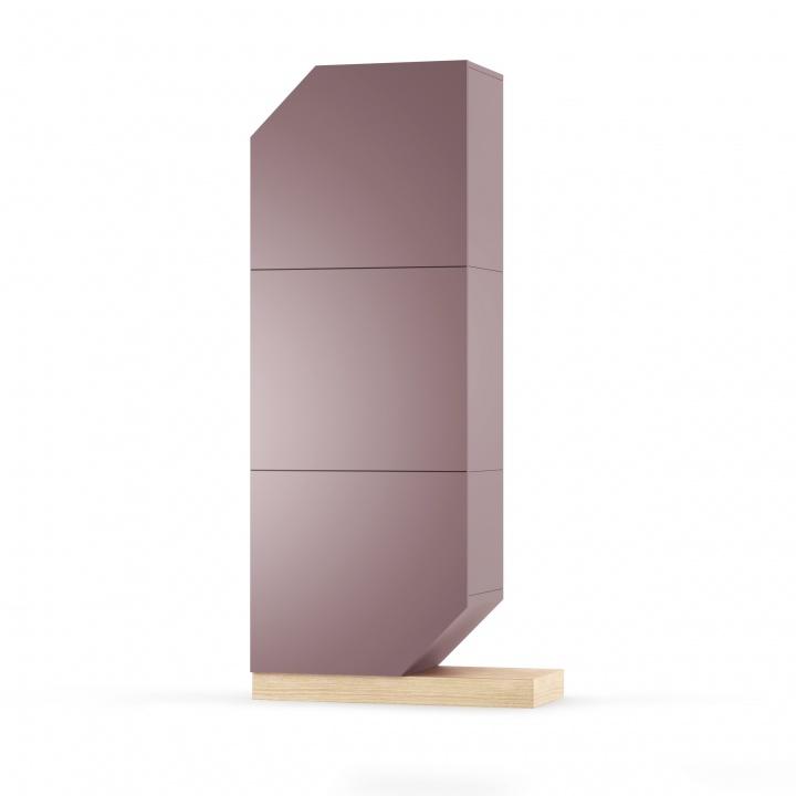 Cabinet din MDF si pal Nook Oak Violet / Natural l84xA37xH183 cm