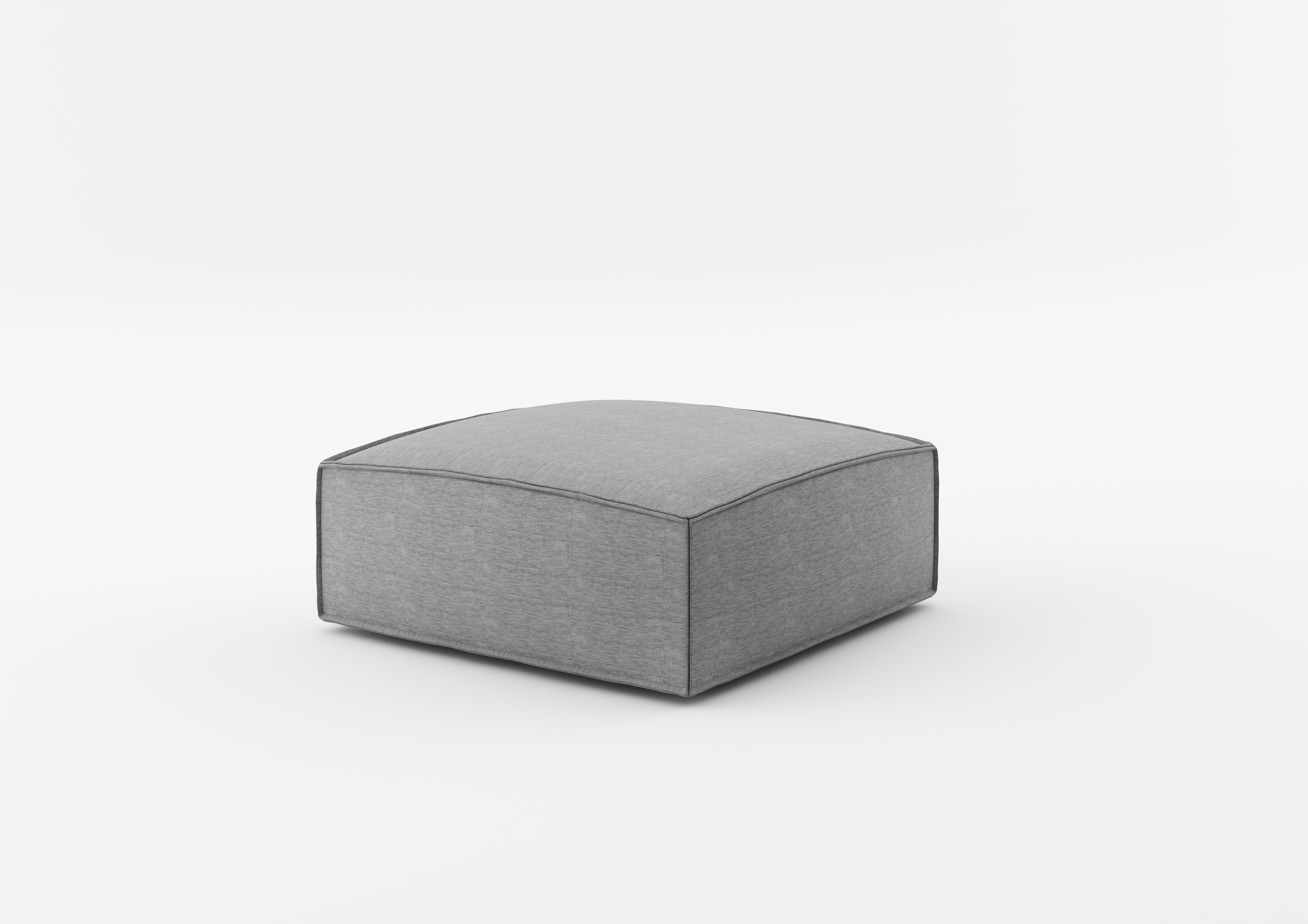 Taburet tapitat cu stofa NOi Grey l90xA90xH38 cm
