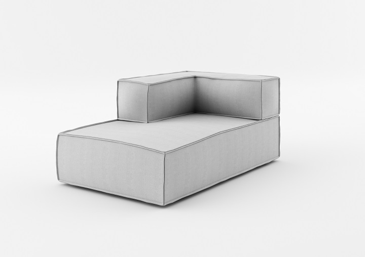 Element modular 2 locuri Chaise Longue NOi Grey