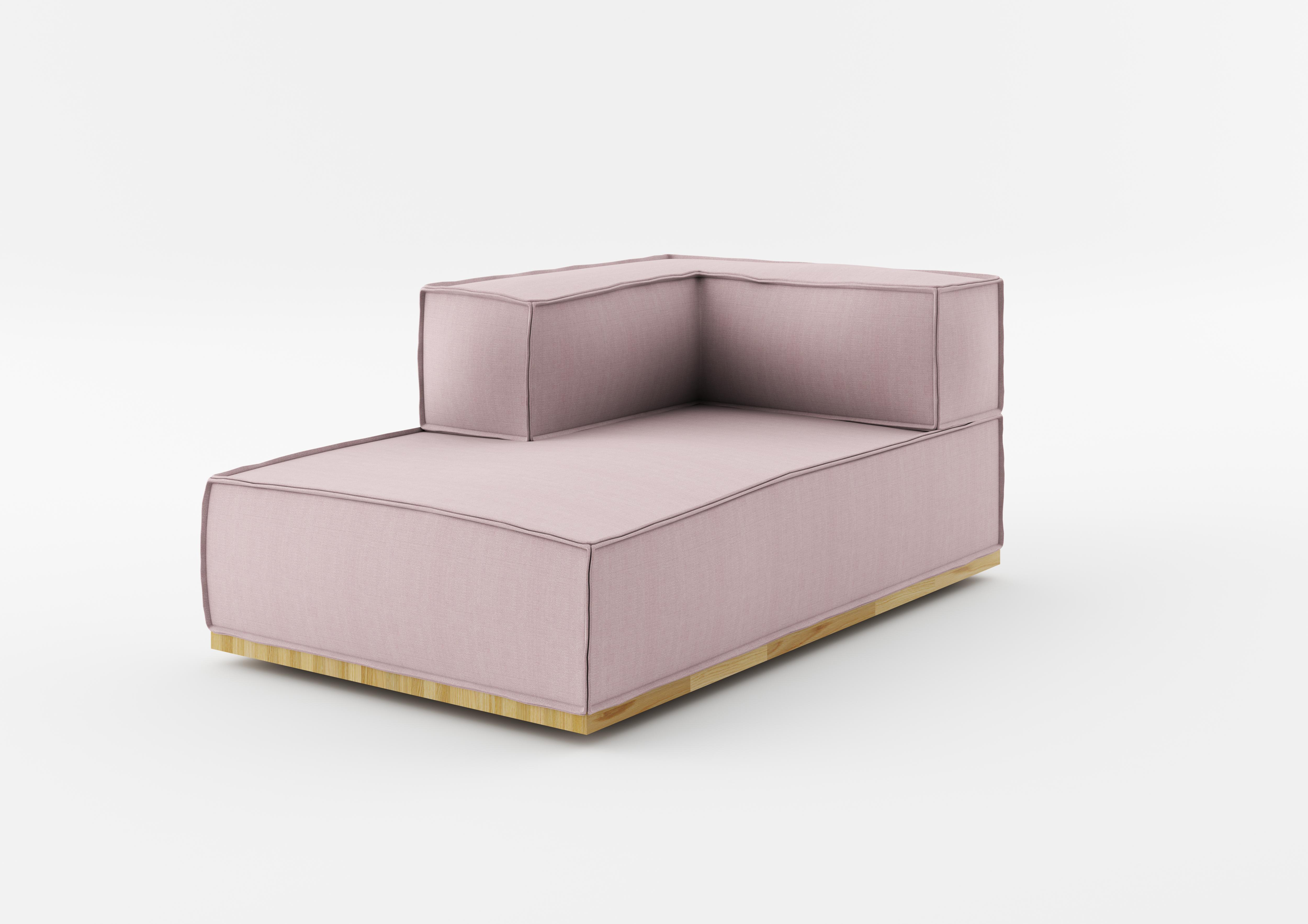 Element Modular Chaise Longue Noi Nude Natural Canapele Ilustratie