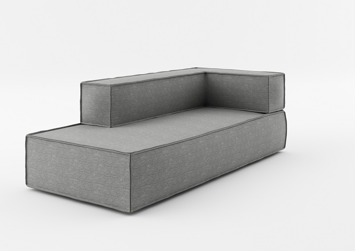 Element modular 3 locuri Chaise Longue NOi Grey