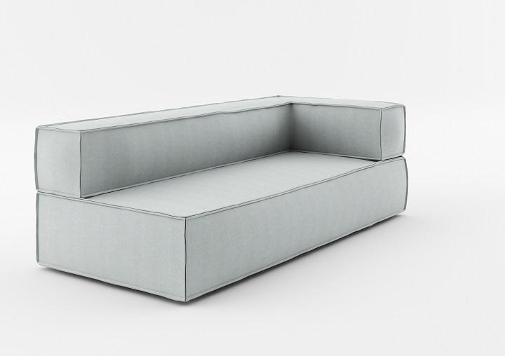 Element modular de colt 3 locuri NOi Grey