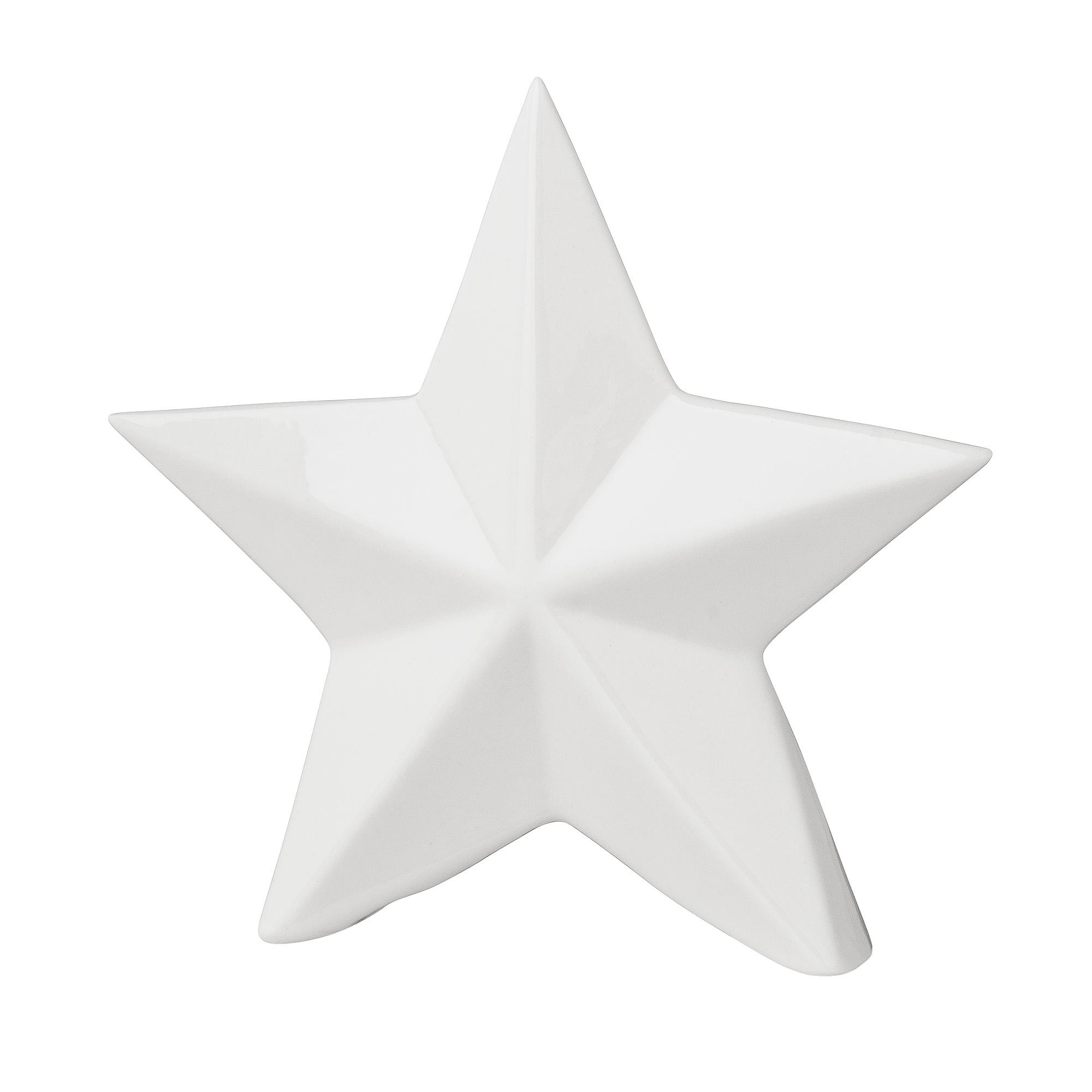 Decoratiune Alistar Alba, Portelan, l14,7xA3,5xH14 cm imagine