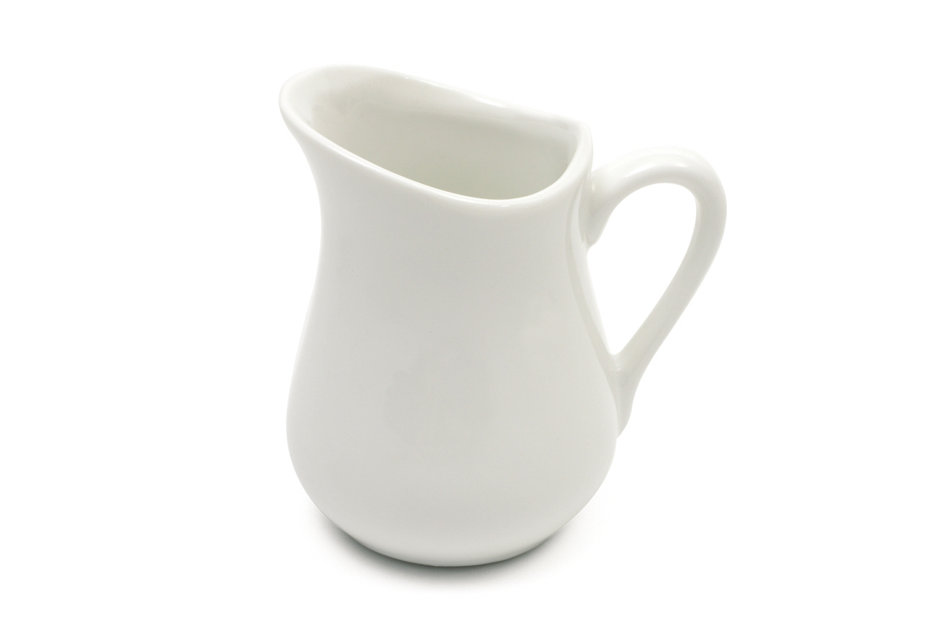 Set 6 Latiere White Basics Milk Jug Alb, Portelan, 110 ml