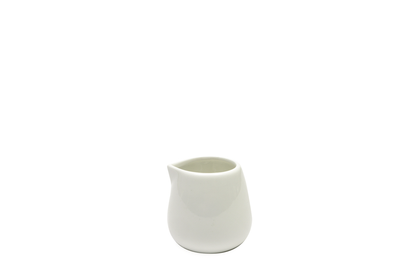 Set 12 Latiere White Basics Milk Jug Alb, Portelan, 100 ml