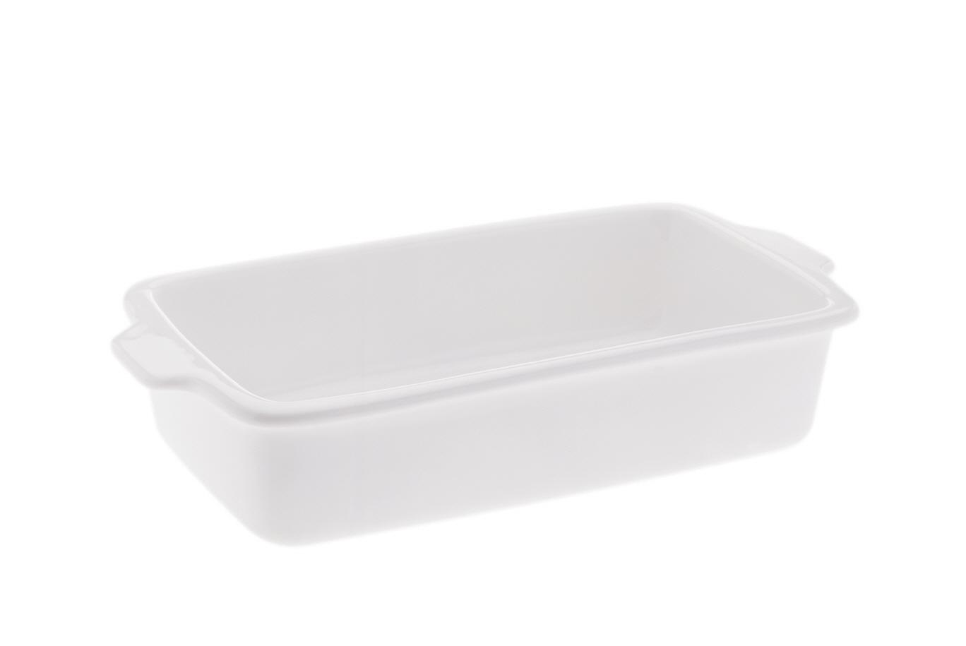 Tava White Basics Alb, Portelan, l32 cm
