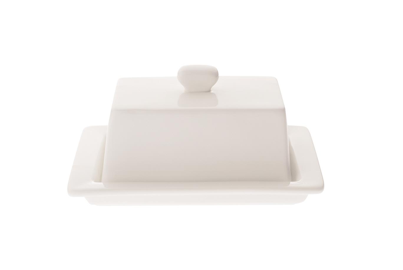 Recipient pentru unt White Basics Square Butter Dish Alb, Portelan