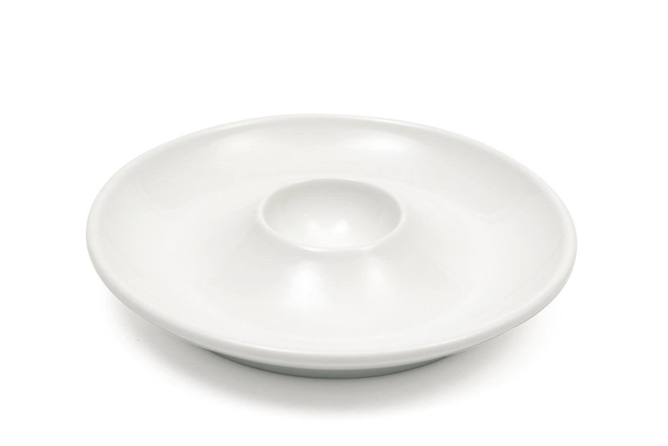 Set 8 Farfurii pentru oua White Basics Egg Dish Alb, Portelan, 12,5 cm