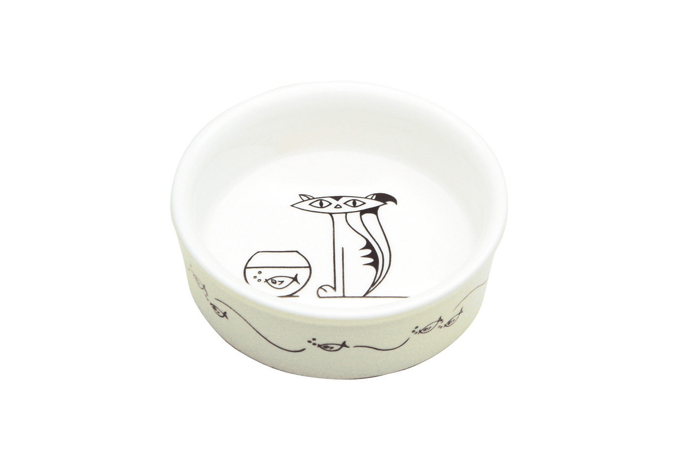 Bol White Basics Cat Bowl Alb, Portelan, 15 cm