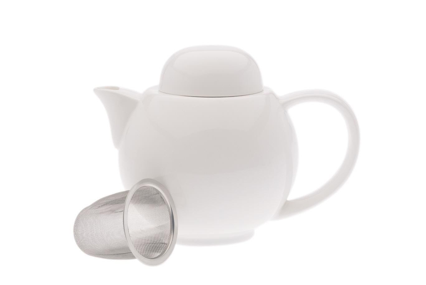 Ceainic cu sita White Basics Teapot Alb/6 cesti, Portelan