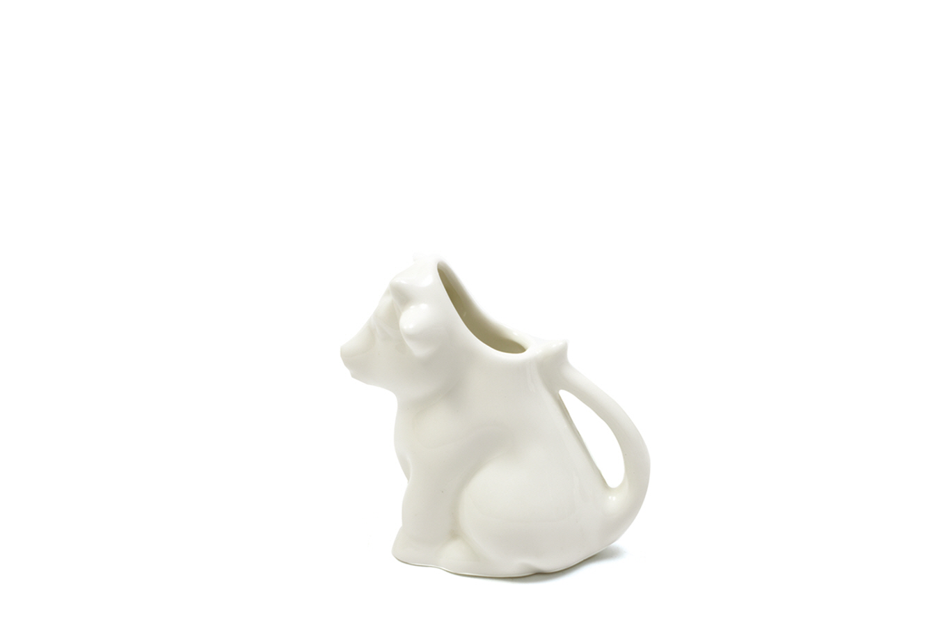 Set 6 Latiere White Basics Milk Jug Alb, Portelan, 100 ml