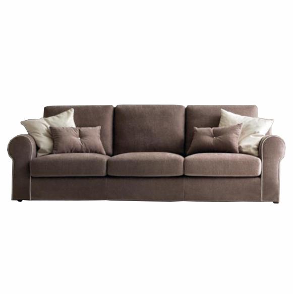 Canapea fixa 3 locuri tapitata cu stofa Abby, l248xA101xH81 cm