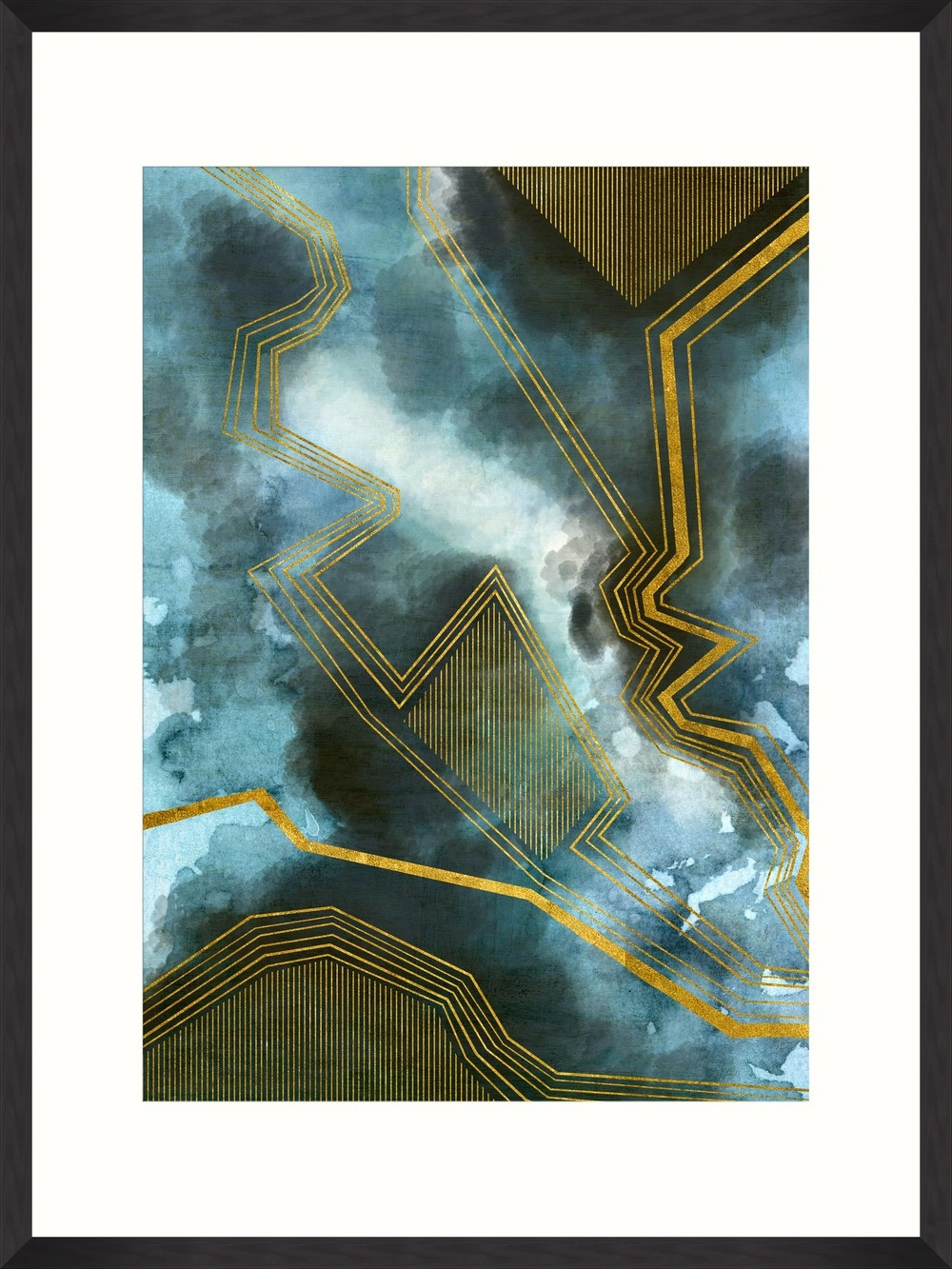 Tablou Framed Art Gold Thunders I