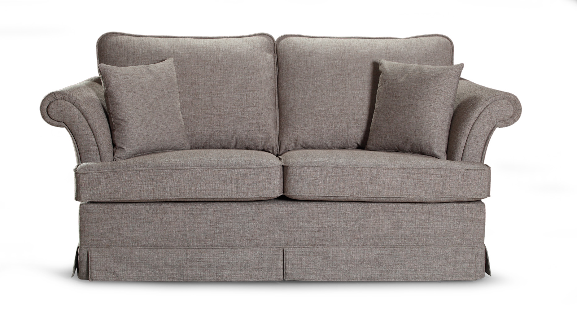 Canapea fixa 2 locuri tapitata cu stofa Afrodyta