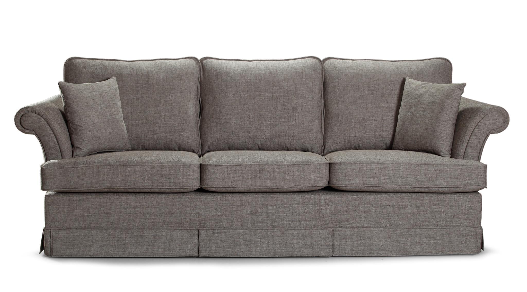 Canapea fixa 3 locuri tapitata cu stofa Afrodyta