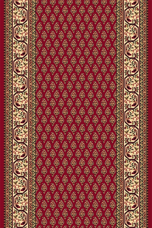 Traversa Oset Dark Red Wilton-150 x 300 cm