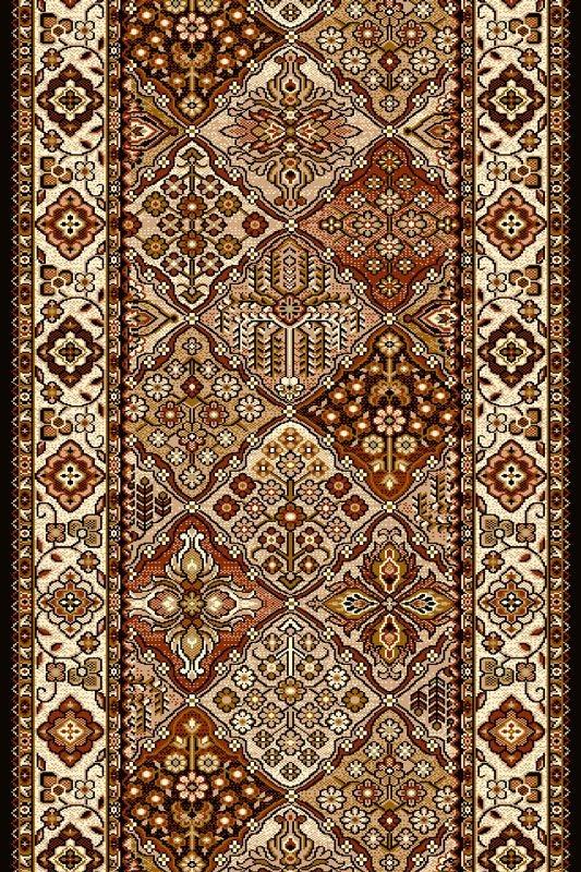 Traversa Bergenia Brick Red Wilton-100 x 180 cm