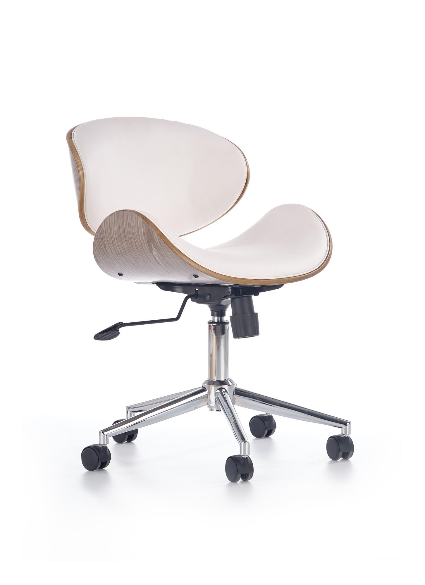 Scaun de birou ergonomic Alto White / Light Oak, l59xA58xH70-80 cm