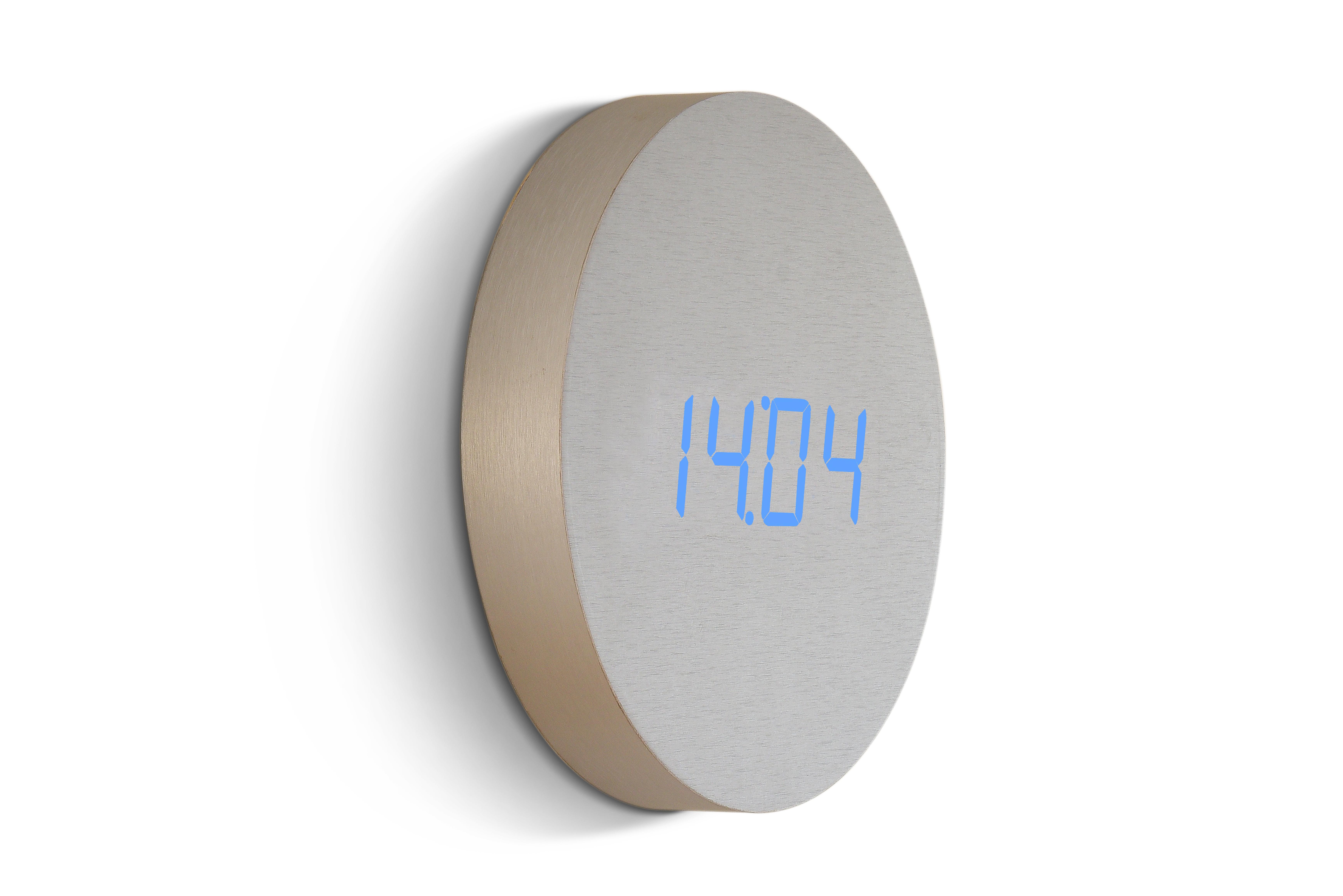 Ceas Wall Click Clock Aluminium imagine