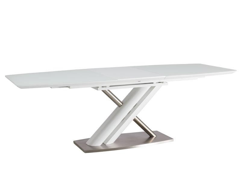 Masa din MDF Alzano White, L180-230xl95xh76 cm