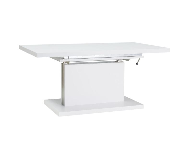 Masa extensibila din pal Amber White, L120-200xl70xh55-74 cm
