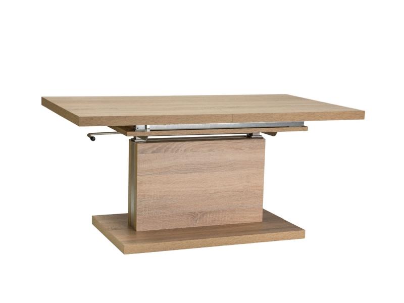 Masa extensibila din pal Amber Sonoma Oak, L120-200xl70xh55-74 cm