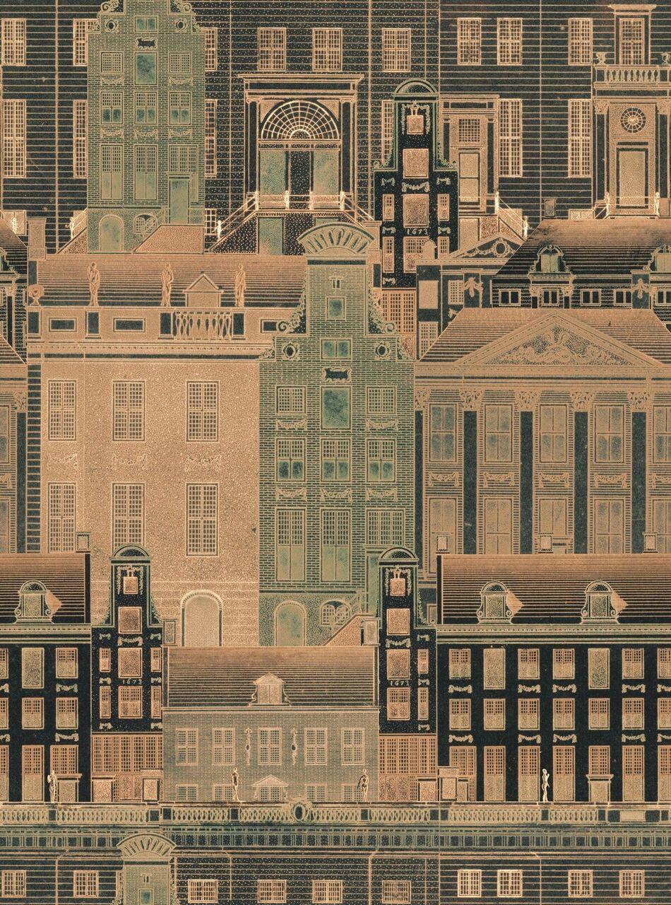 Set 3 role Tapet Imprimat Digital Amsterdam Orange imagine
