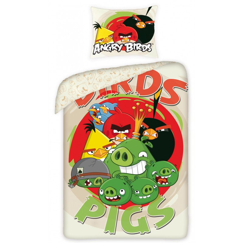 Lenjerie de pat copii Cotton Angry Birds 5008