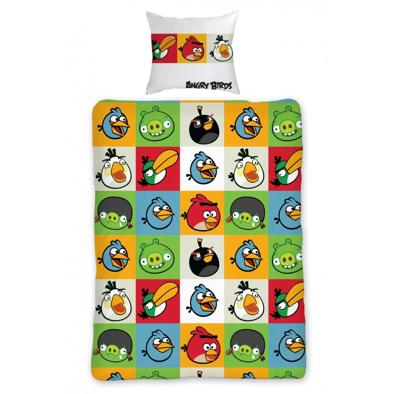 Lenjerie de pat copii Cotton Angry Birds AB-010BL