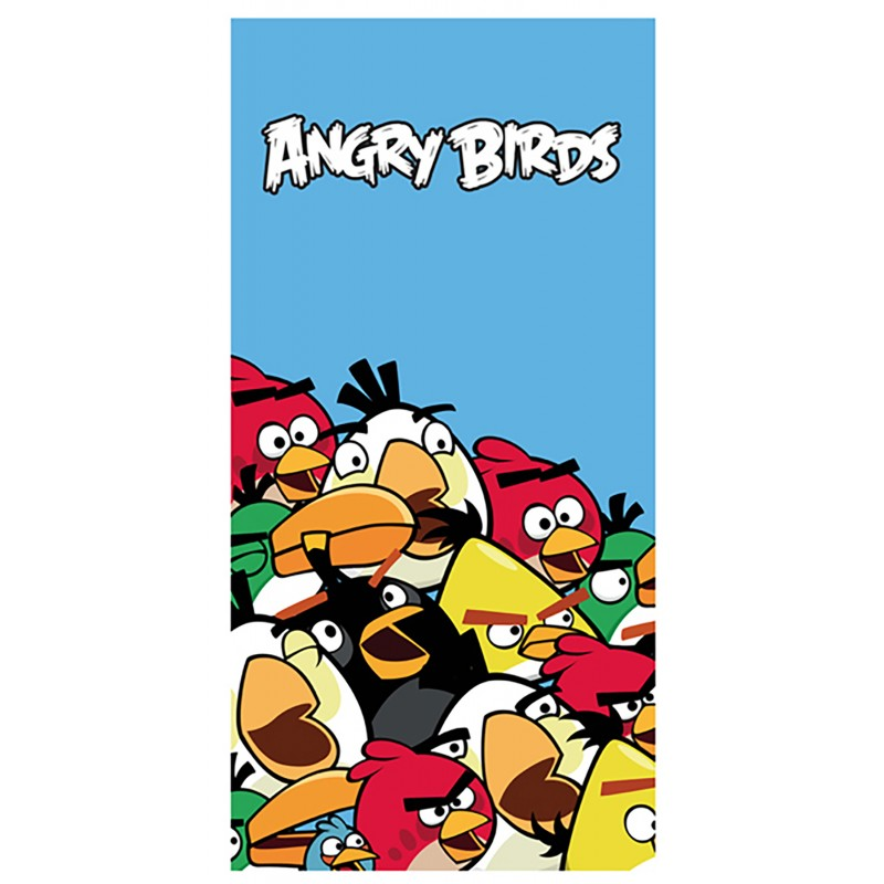Prosop pentru copii Cotton Angry Birds AB Crowded Blue imagine 2021