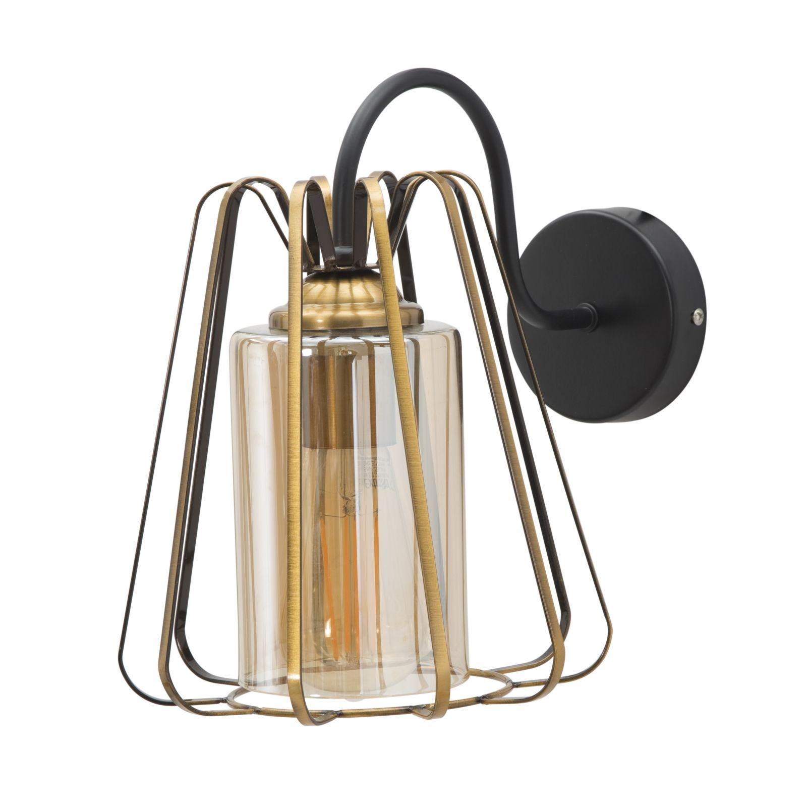 Aplica din metal si sticla Muro Class C Auriu / Negru