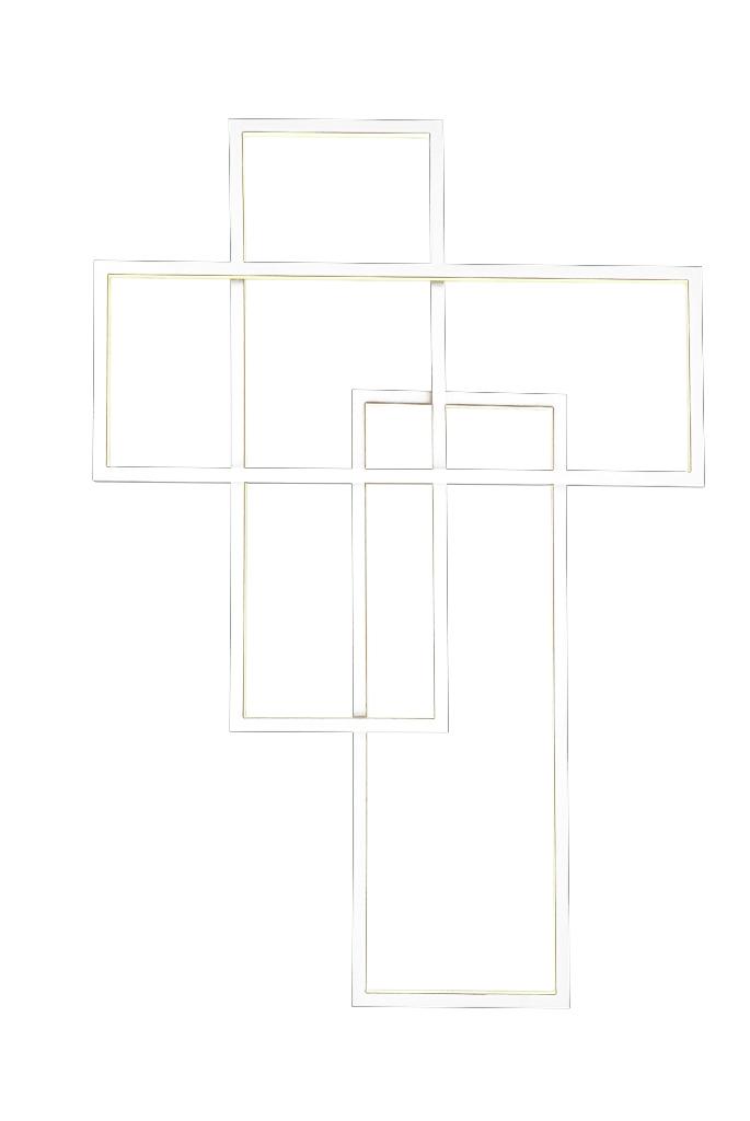 Aplica Quadratus Alb, AZ2993 imagine