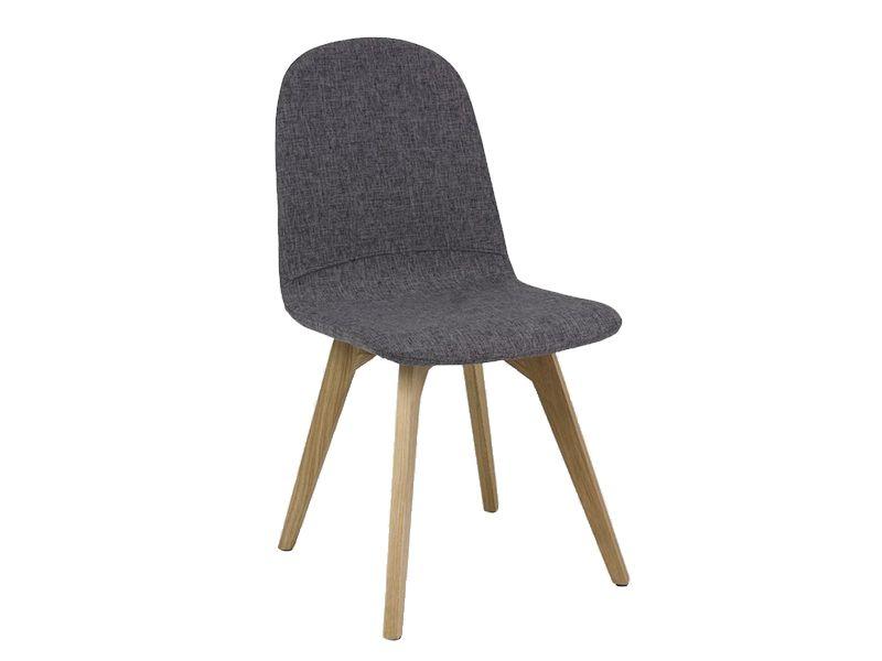 Scaun din lemn tapitat Ares Grey