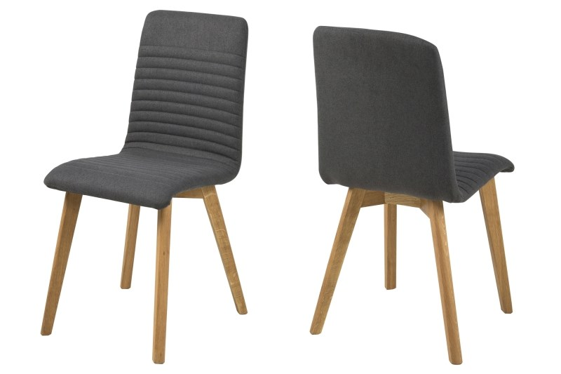 poze cu Set 2 scaune din lemn Arosa Dark Grey