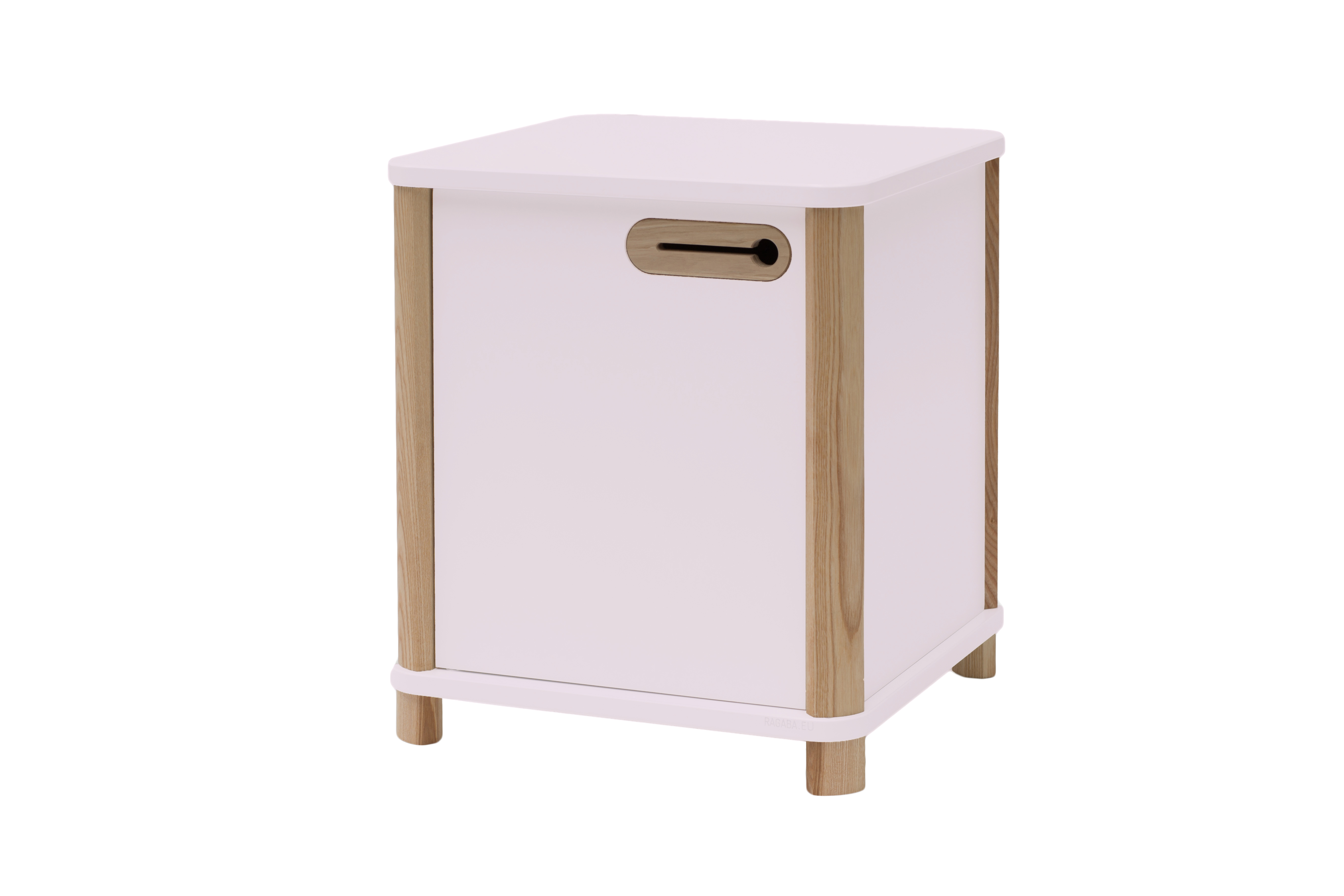 Cabinet din MDF si lemn de frasin cu 1 usa Ashme Dusky Pink l42xA42xH48 cm