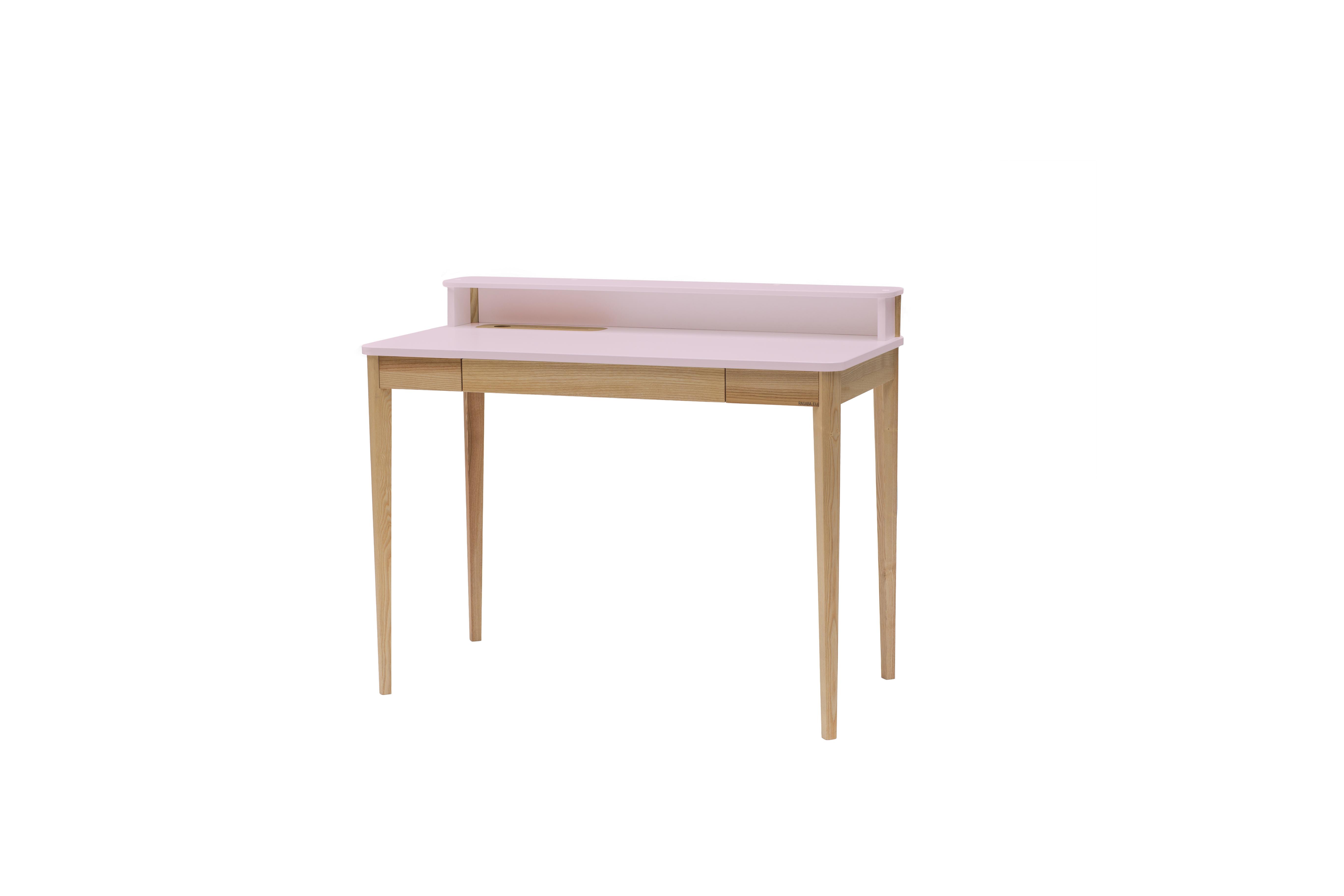 Masa de birou Ashme Dusky Pink, L119xl56xh75 cm